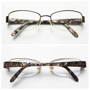 Lizwear 119 0CT5 Brown Metal Semi Rimless Glasses